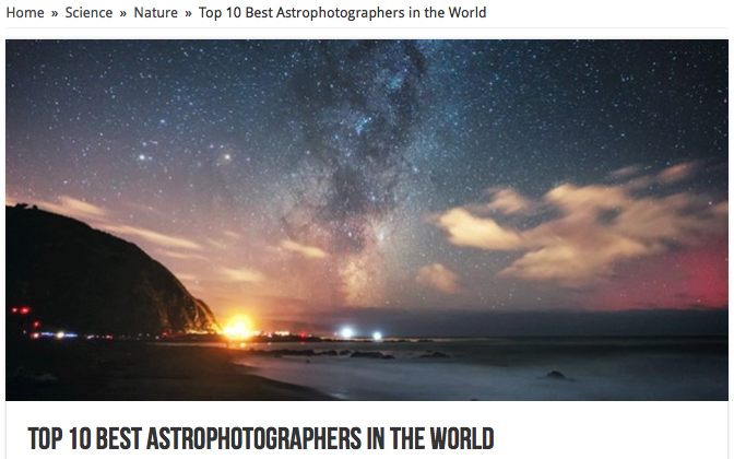 Top 10 Astrophotographers in the World