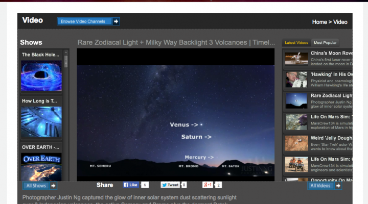 Rare Zodiacal Light and Milky Way featured in Space.com!