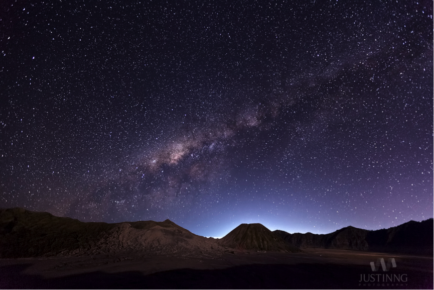 Milkyway above Mount Bromo