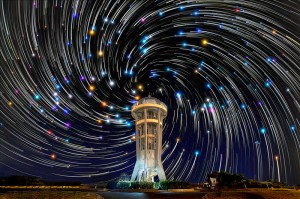 Star Trails in Light Polluted City