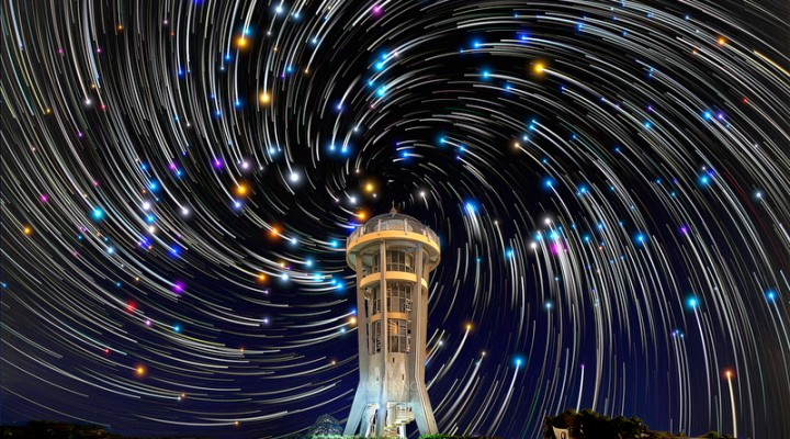 First Star Trails shot of the year 2014 in Singapore