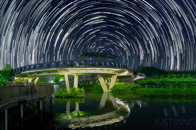 Punggol Waterway Star Trails