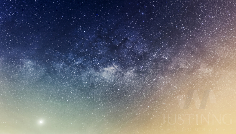 Milky Way and Venus in Singapore