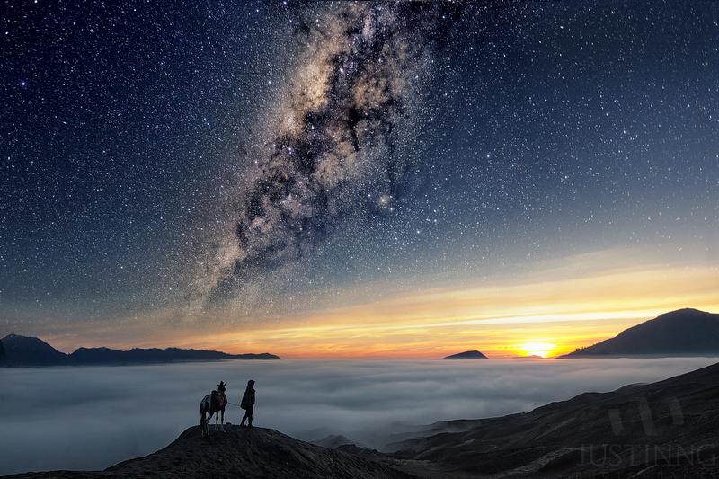 130930-Horseman and the Milky Way II-w