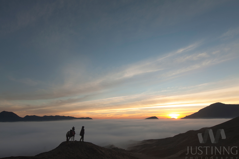 130930-Sunrise from Mount Bromo Crater-w