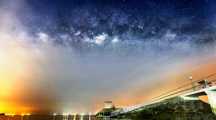 30 March 2014 – Rise of the Milky Way in East Coast Park (ECP)