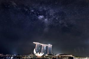 140408-Milky Way Above Marina Bay Sands Singapore