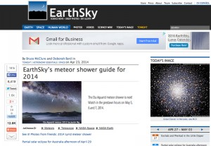 Eta Aquarid Meteor Shower in Mount Bromo Published in EarthSky