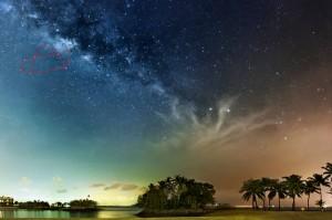 Constellation Sagittarius in Milky Way at Sentosa Singapore