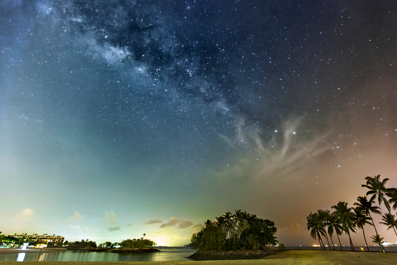6 March 2014 - Rising Milky Way at Sentosa Singapore