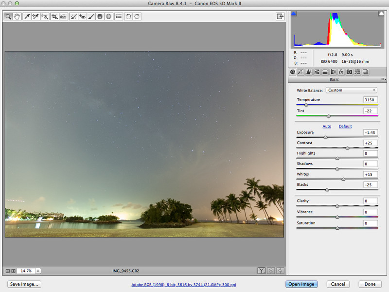 140306-Rising Milkyway at Sentosa Singapore-Tutorial-Step 3