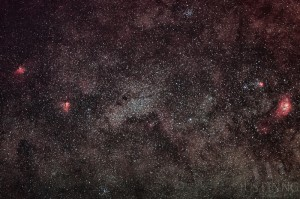 Eagle Nebula, Omega Nebula, Trifid Nebula and Lagoon Nebula captured in Mount Bromo