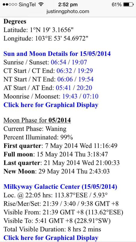 Justin Ng Astronomy Tool