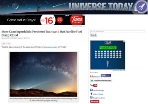 Camelopardalids meteor in Jebel Al Jais mountain published in Universe Today