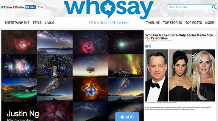 I am officially on WhoSay.com now!
