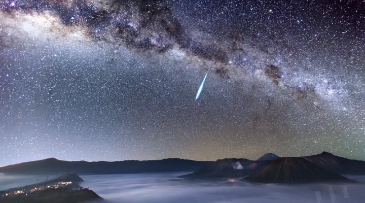 Eta Aquarid Meteor Shower in Mount Bromo
