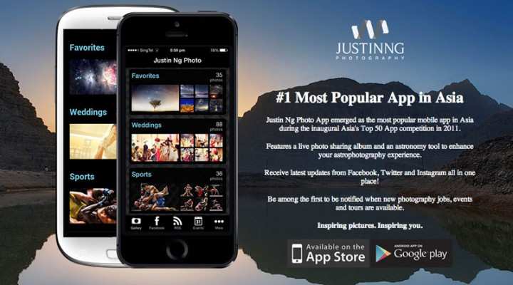 Justin Ng Photography Mobile App Available on App Store and Google Play!