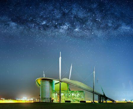 10 April 2014 – Rising Milky Way above Marina Barrage Singapore