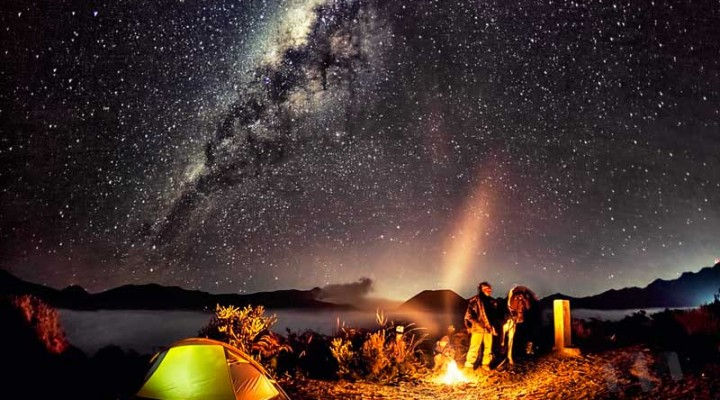23 August 2014 – Campfire Under The Milky Way Galaxy at Mount Bromo