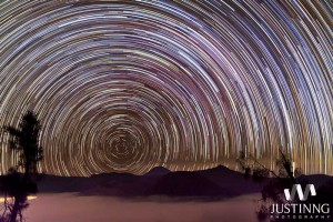 first-mount-bromo-star-trails