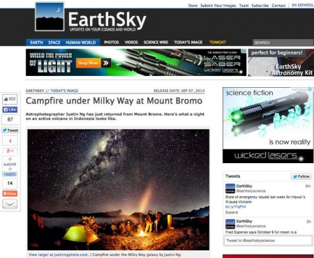 Campfire Under The Milky Way Galaxy at Mount Bromo Featured in EarthSky