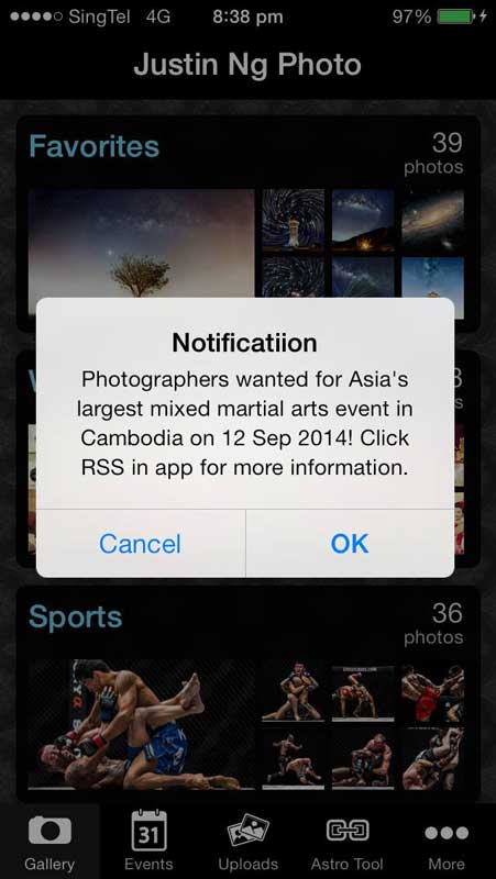 Download Justin Ng Photography app to receive notifications on latest photography jobs!