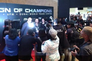 Paparazzis at work during the ONE FC event in Dubai on 29 August 2014.