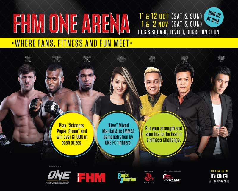 Singapore FHM and ONE Fighting Championship Fan Engagement Event in Singapore