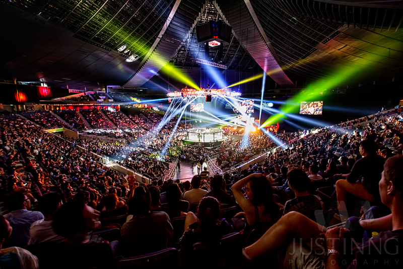 Sold out arena at Singapore Indoor stadium.