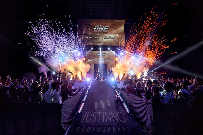 ONE FC: BATTLE OF LIONS fighters' opening at Singapore Indoor stadium on 7 November 2014.