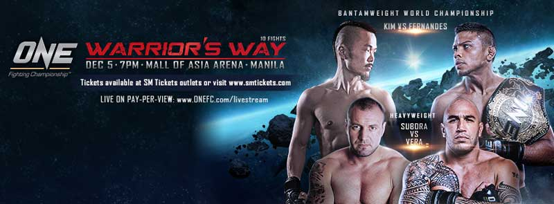 ONE Fighting Championship: Warrior's Way in Manila on 5 December 2014