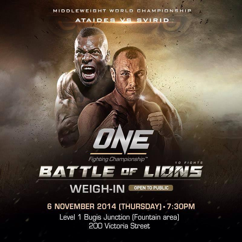 SINGAPORE: Official Weigh-in for ONE FC: BATTLE OF LIONS
