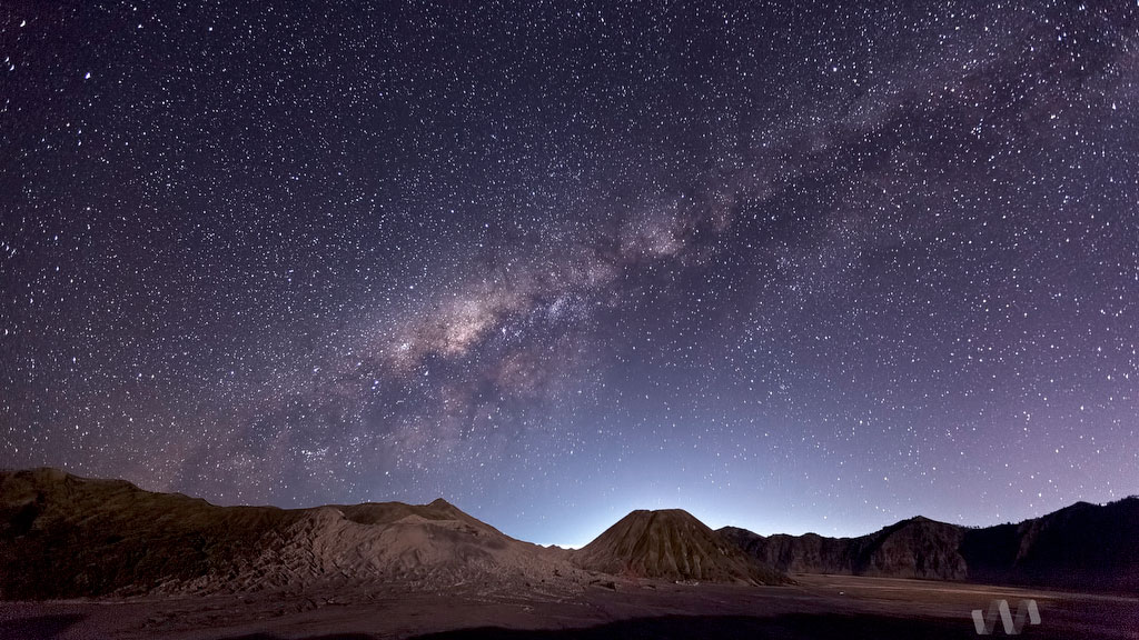 13 Aug 2012 - Milky Way above Mount Bromo