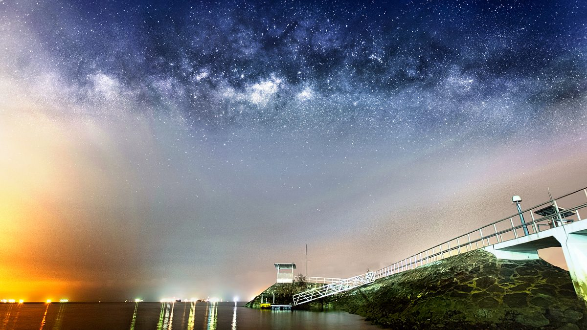 Milky Way at East Coast Park Singapore