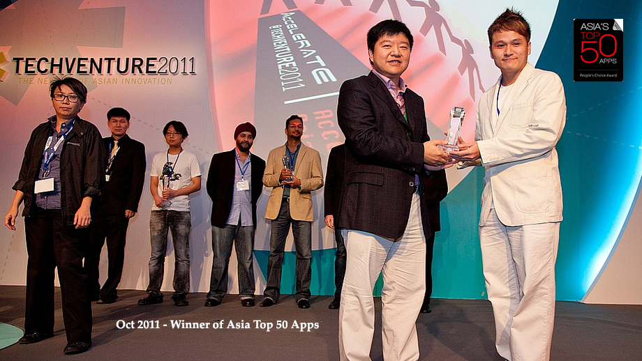 Winner of Asia Top 50 Apps