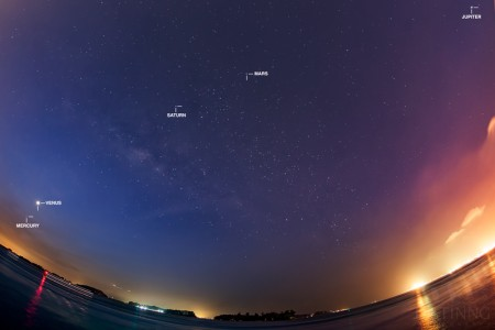 18 February 2016 – 5 Planets and a Milky Way in Singapore