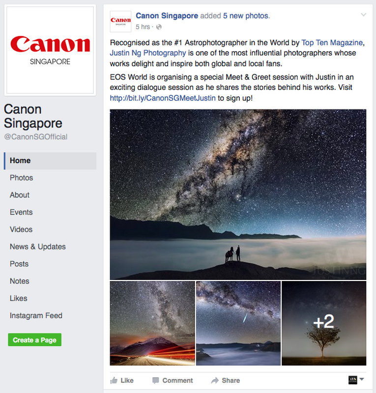 31 July 2016 - Meet and Greet by Canon Singapore