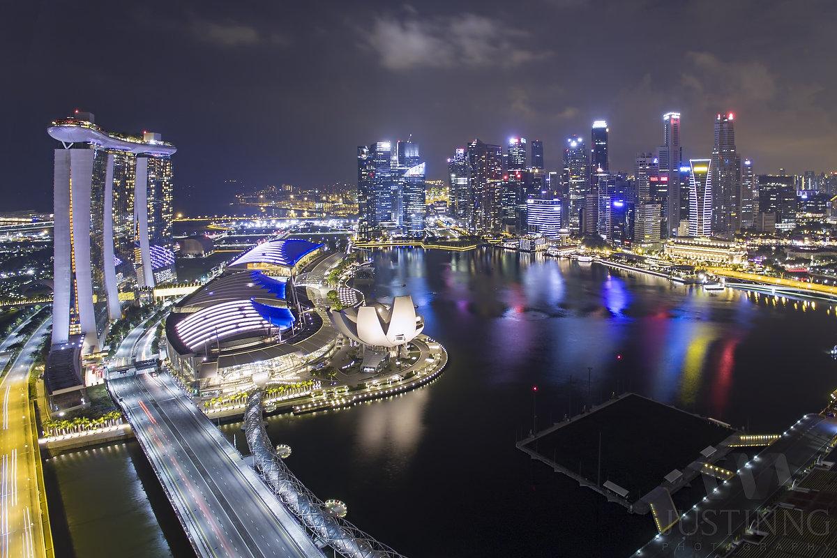 Marina Bay Sands Long Exposure with DJI Phantom 4