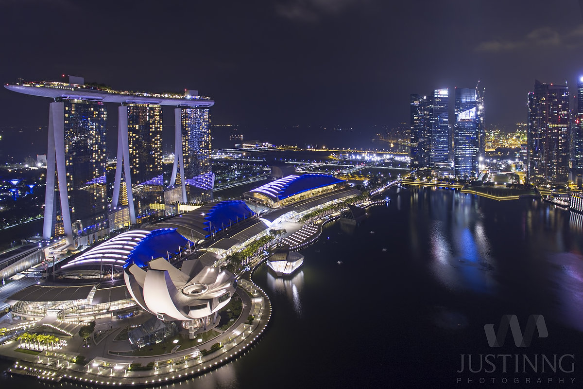 Marina Bay Sands Long Exposure with DJI Phantom 4
