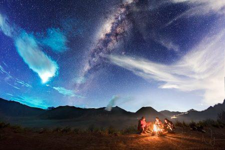 Eta Aquarid Meteor Captured in Mount Bromo on 6 May 2017