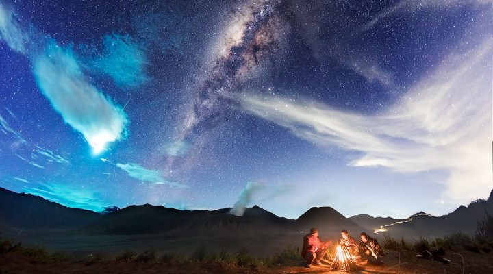 Eta Aquarid Meteor Captured in Mount Bromo on 6 May 2017