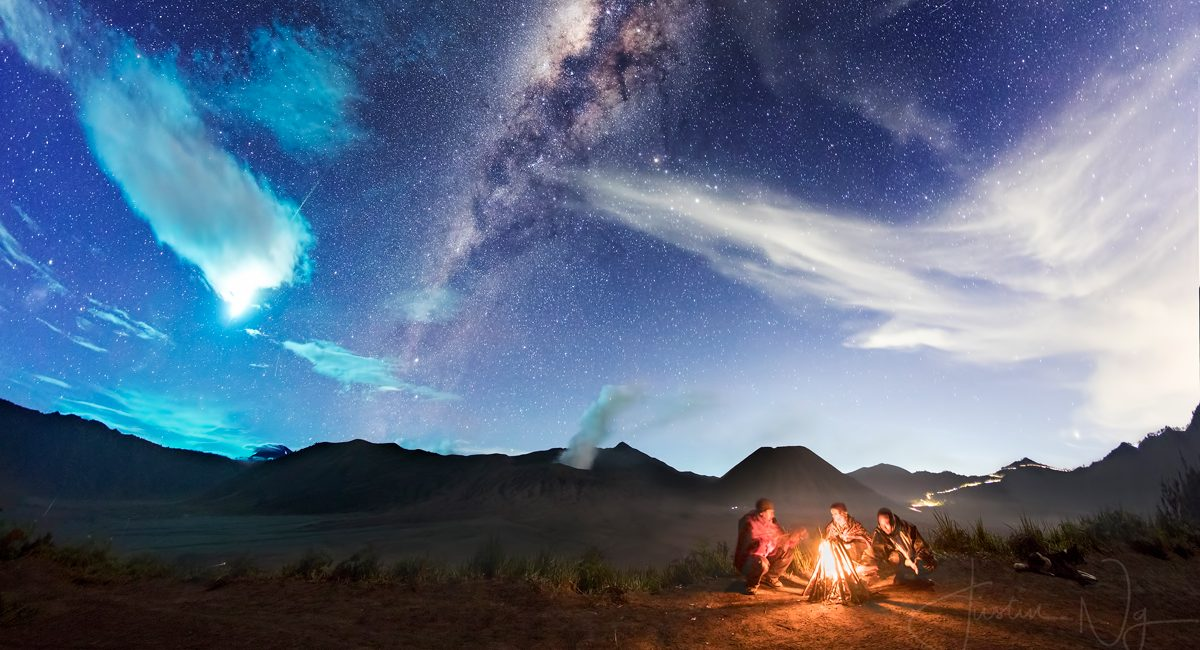 06 May 2017 - Eta Aquarid Captured in Mount Bromo