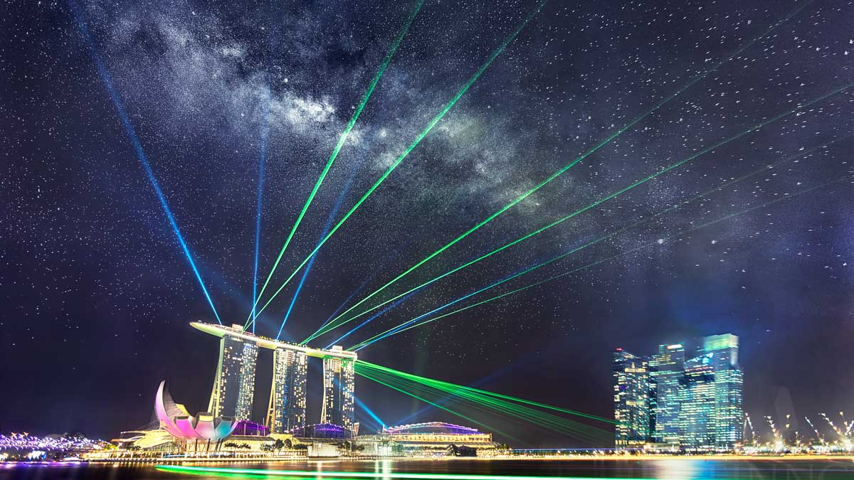 Rising Milky Way above MBS