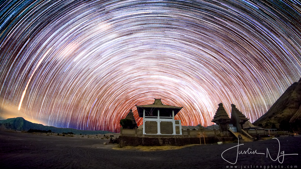 13 May 2018 - Star Trails at Pura Luhur Poten in Mount Bromo