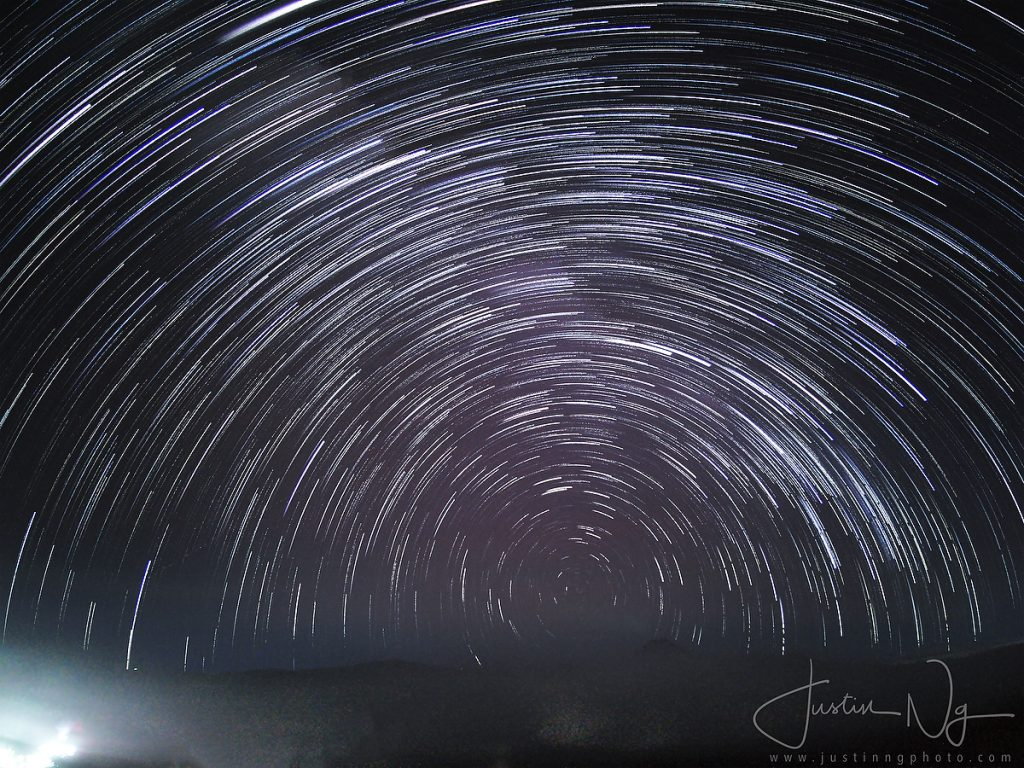 Comet Star Trails above Mount Bromo with Huawei P30 Pro