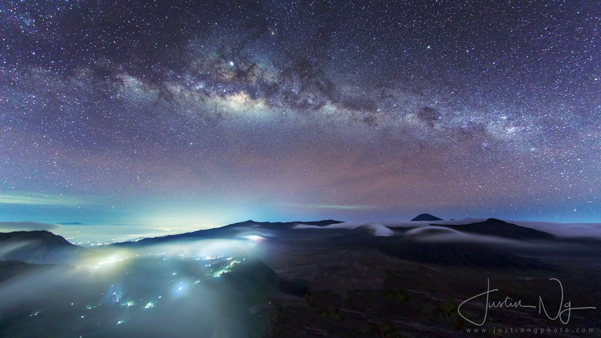 2019 Milky Way above Mount Bromo