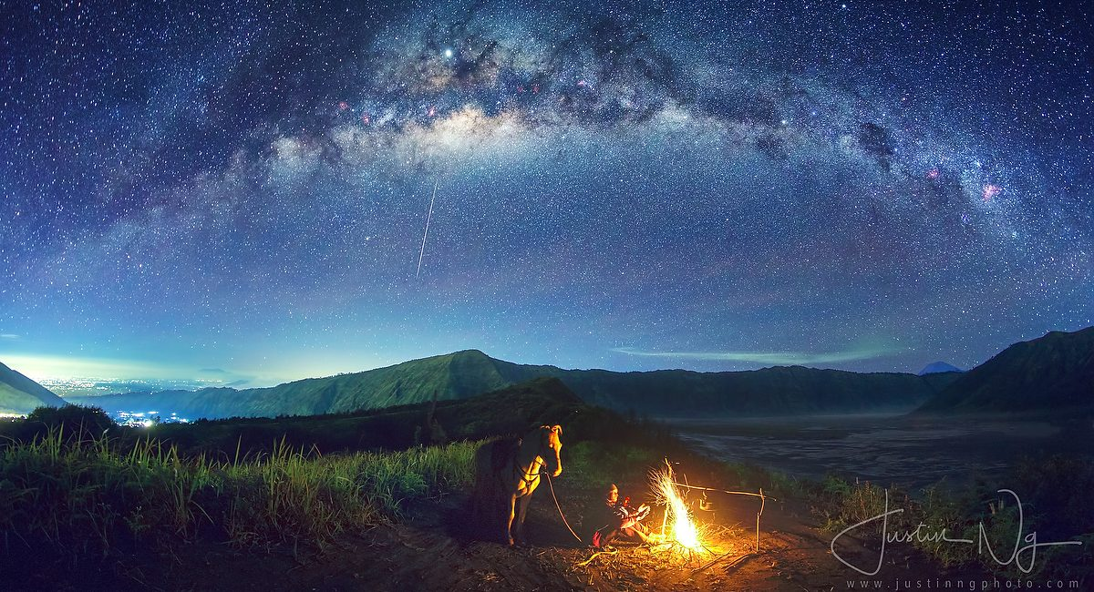 05 May 2019 - Campfire under the Arching Milky Way