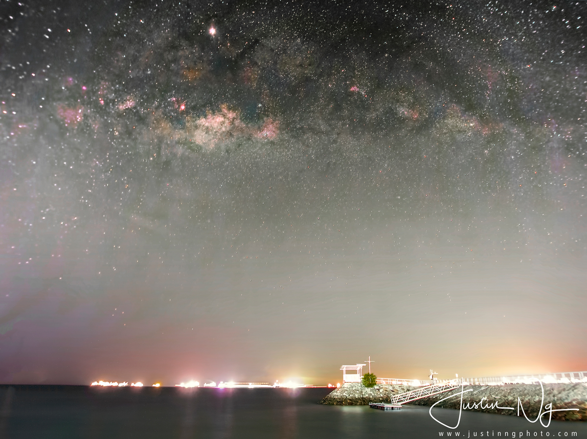 After-Rising Milky Way at East Coast Park Singapore
