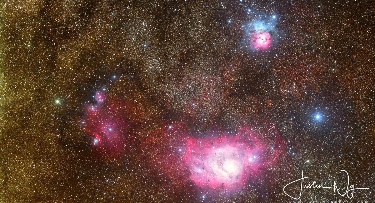 2019 Lagoon and Trifid Nebula