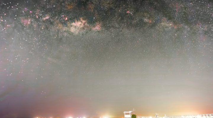 Rising Milky Way at East Coast Park Singapore on 26 May 2019